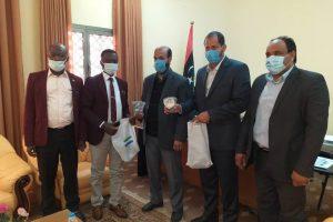 زيارة قنصل سفارة سيراليون لكلية الدعوة الإسلامية